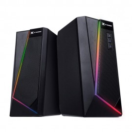 Caixa de Som Gamer Vinik 2.0 Blast Bluetooth RGB LED 10W 130Hz  20KHz 5V Preto