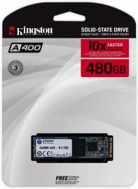 M.2 Kingston A400 480GB Leitura 500MB/s Gravação 450MB/s