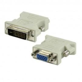 Adaptador FEASSO DVI-D M 24+1 pinos x VGA F 15 pinos - Branco
