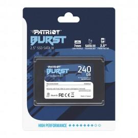 SSD Patriot Burst 240GB Sata III, 2.5 Leitura 555MBs e Gravação 500MBs