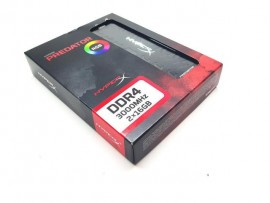 Memória HyperX PREDATOR RGB 32GB (2x16GB) 3000MHz DDR4 CL15 Preto