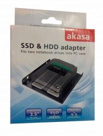 Adaptador Akasa Para HD ou  SSD 2.5 - Baia 3.5