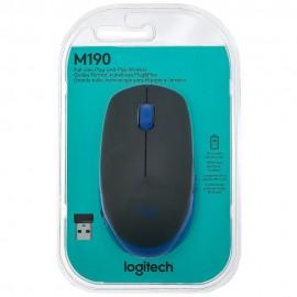 Mouse Sem fio Logitech M190 Azul