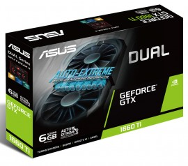 Placa de Vídeo Asus NVIDIA GeForce GTX 1660 Ti OC Dual 6GB, GDDR6