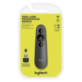 Apresentador Logitech R500 Sem Fio com Laser Pointer Conectividade Dupla