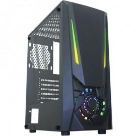 Gabinete Gamer K-Mex JAEGER I CG-01TJ LED RGB Lateral em Vidro Temperado Preto