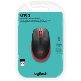 Mouse Sem fio Logitech M190, Vermelho